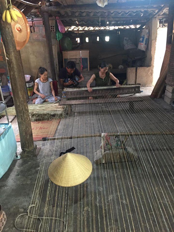 Làng nghề truyền thống dệt chiếu cói An Xá - Lệ thủy Quảng Bình
